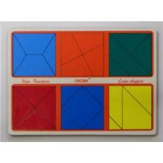 Детская головоломка Сложи квадрат. 2 уровень