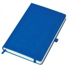 Бизнес-блокнот Justy в линейку (цвет — синий)