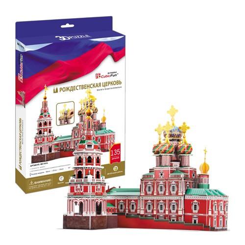 3D пазл Cubic Fun Рождественская церковь (Россия)