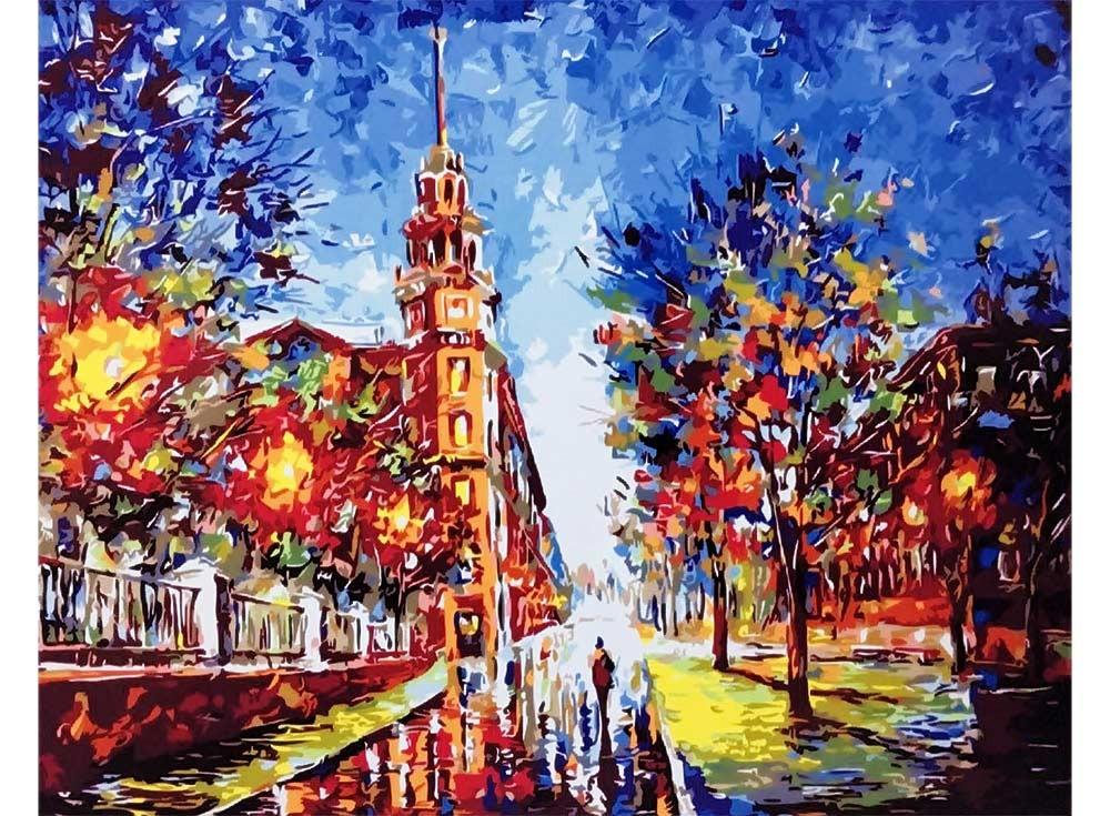 Картины по номерам «Минск. Дом под шпилем»