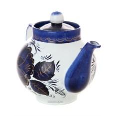 Заварочный керамический чайник для самовара Гжель