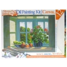 Набор «Живопись маслом – Цветы на окне» EasyArt