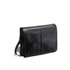 Кожаная черная сумка через плечо Brialdi Ancona