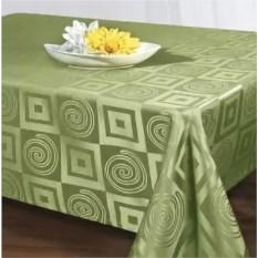 Зеленая скатерть из полиэстера размером 140х170 см