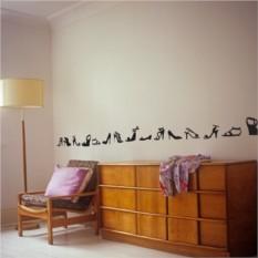 Интерьерные наклейки Туфельки на стене