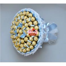Букет из конфет Сладкая снежинка