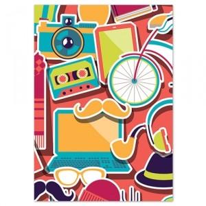 Обложка для паспорта Travel pattern