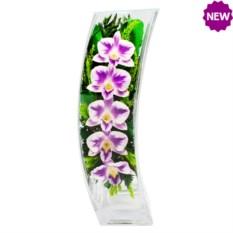 Цветы в стекле: композиция из орхидей в вазе