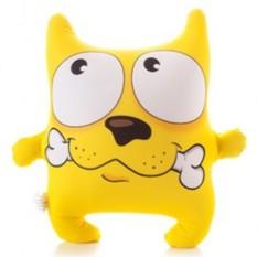 Подушка-игрушка антистресс Пёс с косточкой