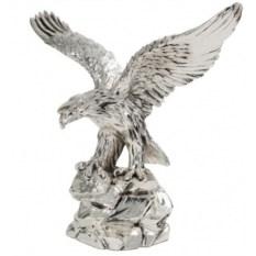 Скульптура «Орёл», посеребрение матовое
