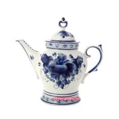 Чайник Гжель керамический, с росписью Юность