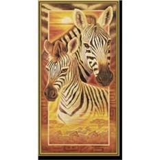 Картина по номерам с акриловыми красками «Зебры»