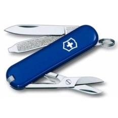 Синий нож-брелок Classic 58 с отверткой