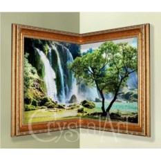 Угловая картина Swarovski Водопад