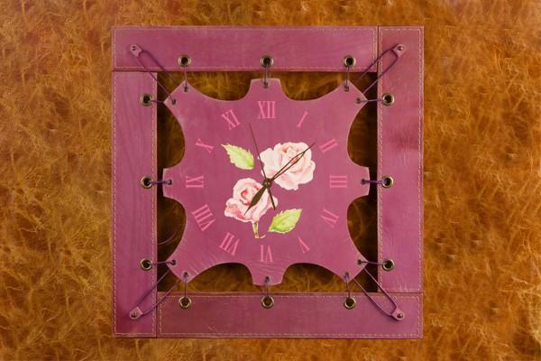 Часы из кожи Нежные розы