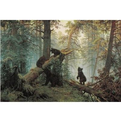 Репродукция картины Шишкина «Утро в сосновом лесу»