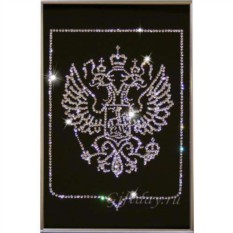 Картина с кристаллами Swarovski Герб малый