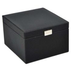 Черная высокая шкатулка для часов и запонок LC Designs