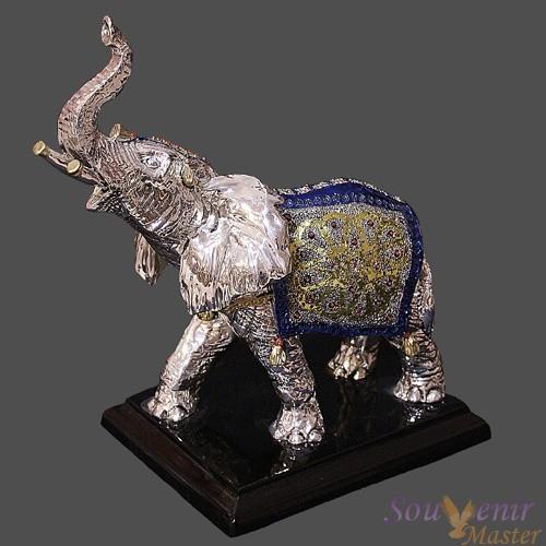 Скульптура Цирковой слон, синий