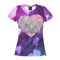Женская футболка Любовь с избражением мишек