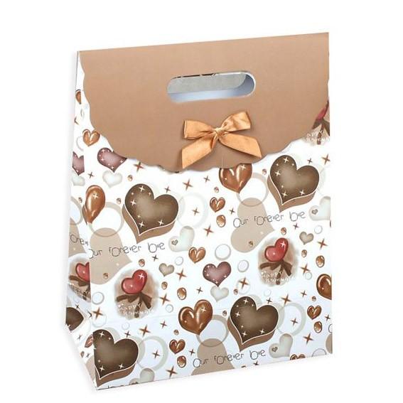 Пакет-коробочка «Сердца»