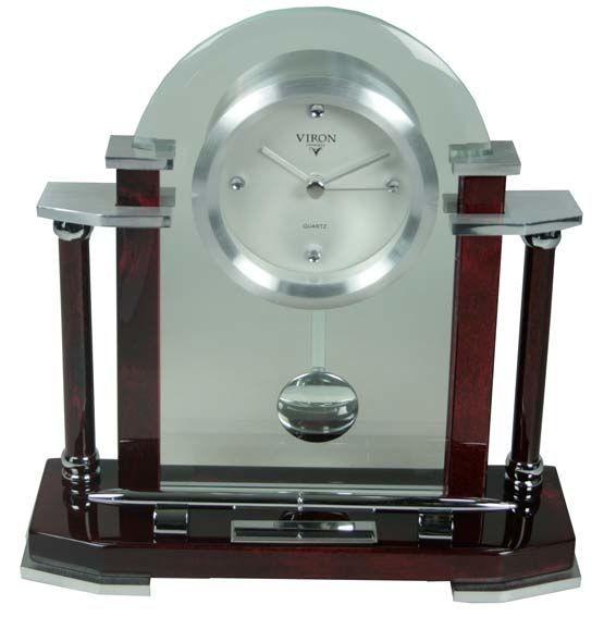 Часы настольные VIRON 22х22х5 см.