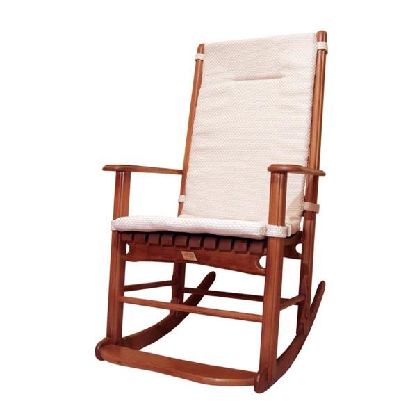 Кресло-качалка с подушкой Классика