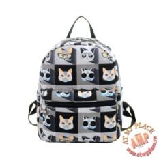 Маленький рюкзак Коты в очках