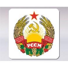 Подставка под кружку «Герб Молдавской ССР»