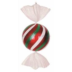 Елочная игрушка Конфета зелено-красного цвета