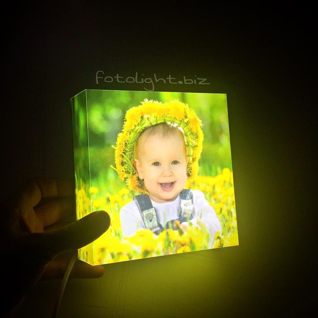 Детский ночник с вашим фото на заказ