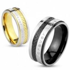 Парные кольца из стали Forever Love от Spikes