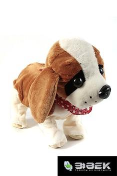 Интерактивная игрушка собачка, реагирующая на звук (светло-бежевая)