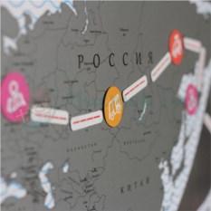 Магнитная скрэтч-карта мира True Map Puzzle Silver