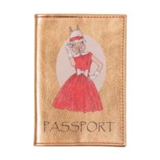 Обложка для паспорта Модные звери. Зайчиха