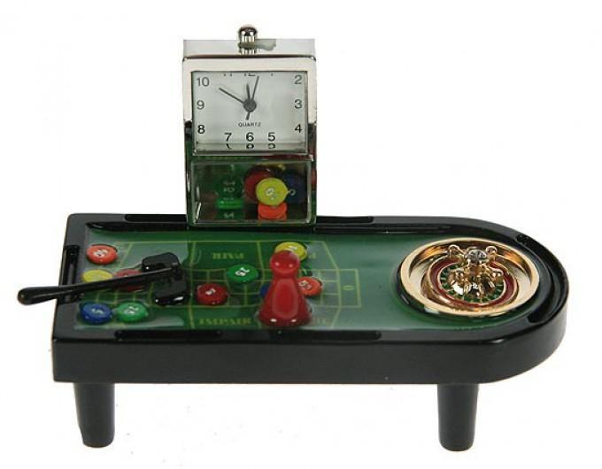 Часы настольные Рулетка