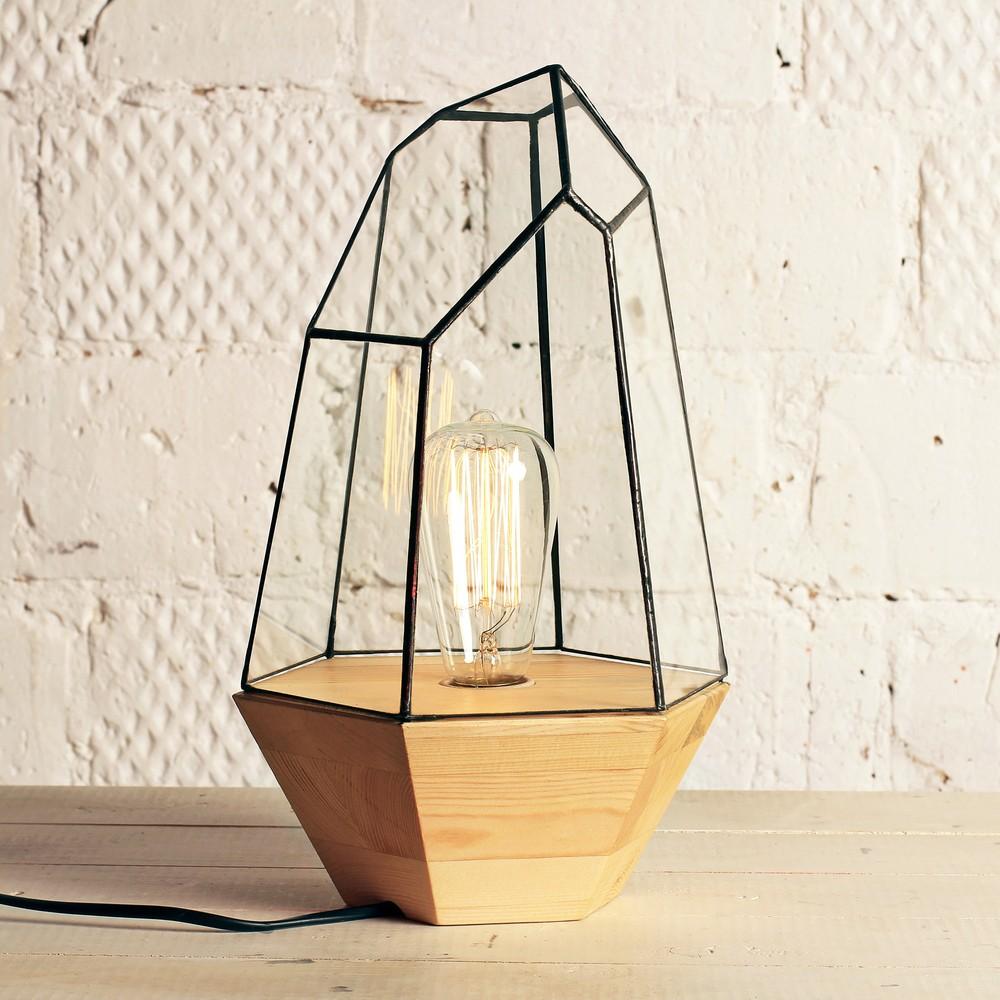 Светильник с ретро-лампочкой Кристалл