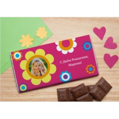 Шоколадная открытка Любимый цветочек