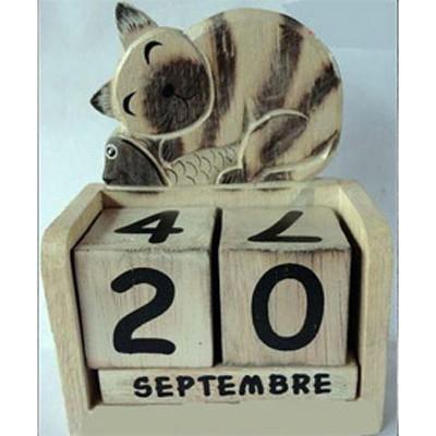 Календарь Котенок серый с рыбкой