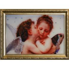 Картина с кристаллами Сваровски Поцелуй Валентина