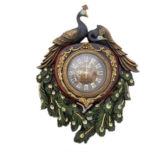 Часы настенные, 2 павлина