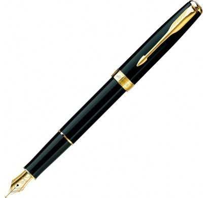 Ручка SONNET перьевая (черный лак GT)