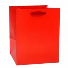 Пакет Крафт красный широкий