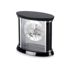 Серебристо-черные настольные часы