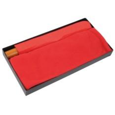 Красный набор Зонт и флисовый шарф