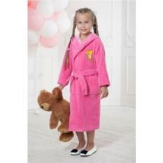 Розовый детский халат Малыш