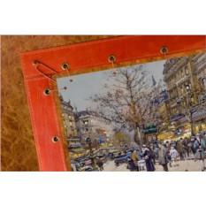 Картина из кожи Парижский бульвар Эжен Гальен-Лалу