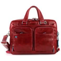 Мужская красная сумка для ноутбука Piquadro Blue Square