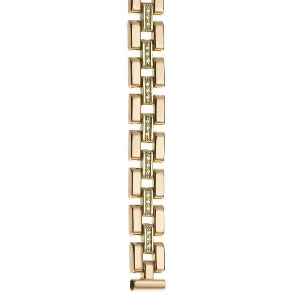 Золотой браслет для часов Platinor