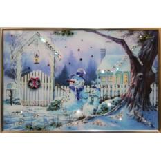 Картина с кристаллами Сваровски Зимнее утро